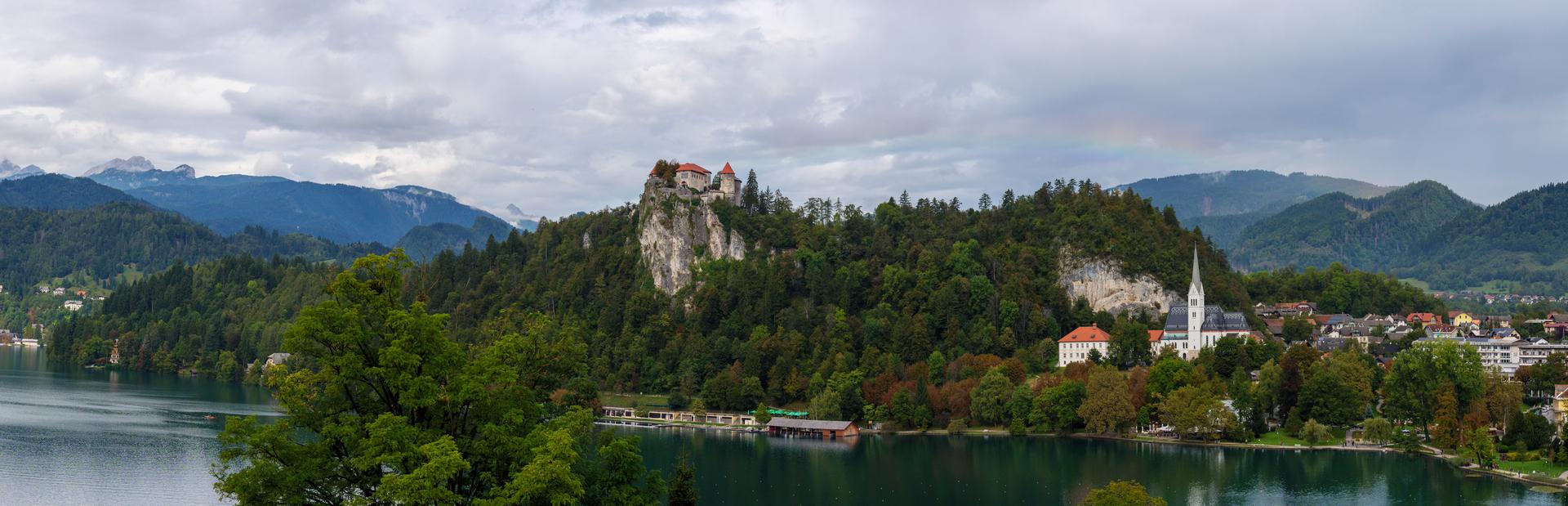 La vista su Bled dall'Hotel Rikli Balance.