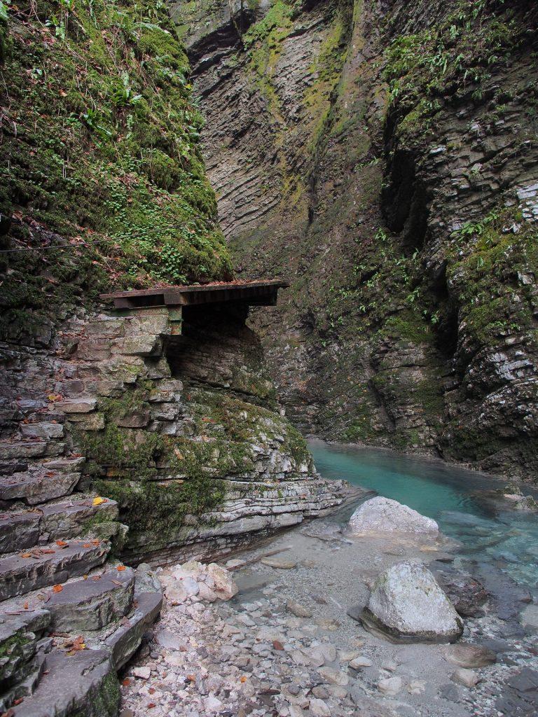 Entriamo nella gola del Kozjak