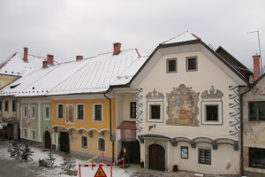 Lihnartov trg in inverno
