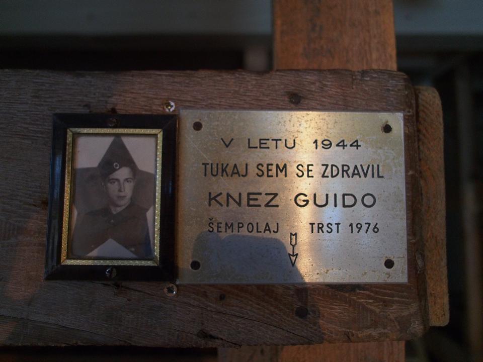 Il partigiano triestino Guido Knez, curato all'ospedale Franja