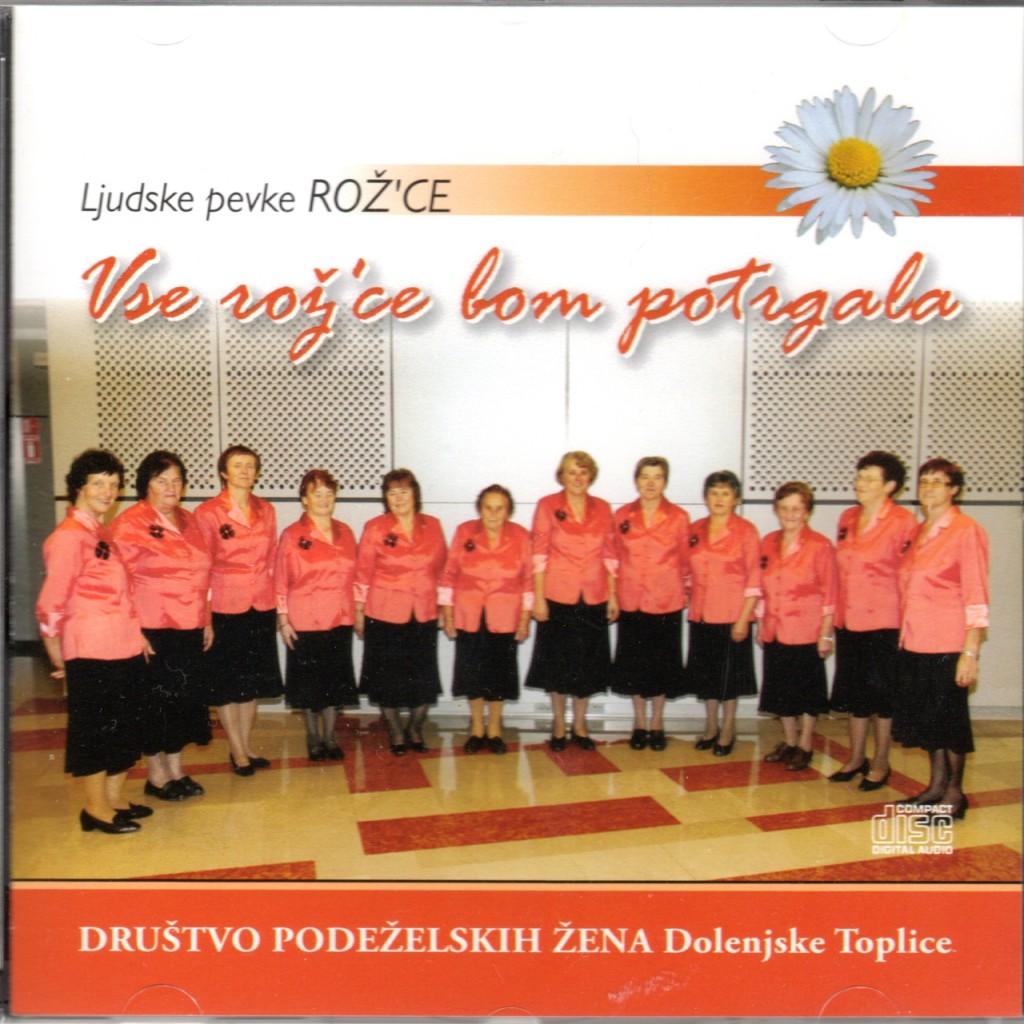 """Il CD delle Dolenjke """"Vse rož'ce bom potrgala"""""""