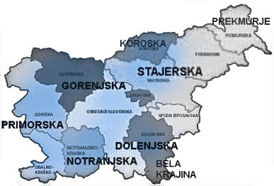 le regioni storiche della Slovenia