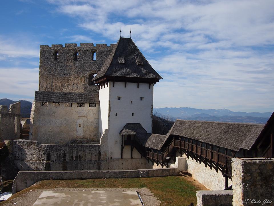 Lo splendido castello di Celje