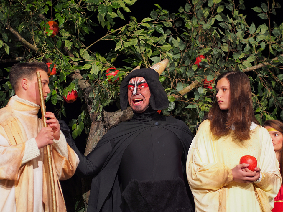 Adamo, Eva e il diavolo tentatore