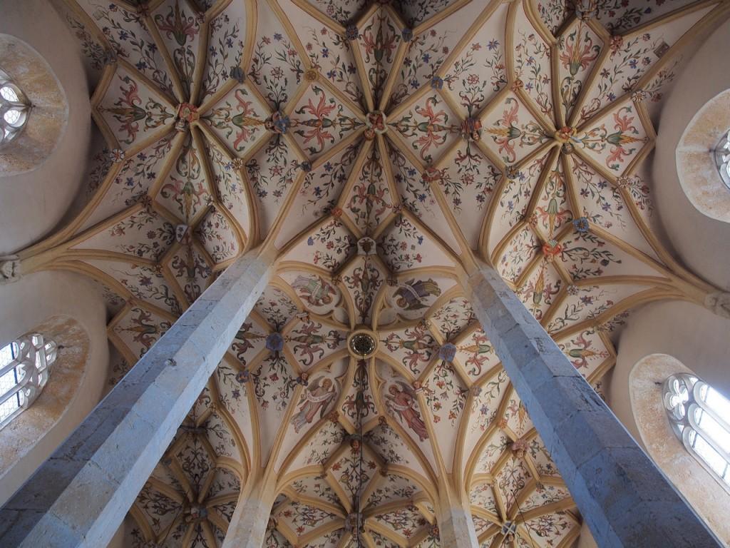 Il soffitto della navata della chiesa di Šentrupert