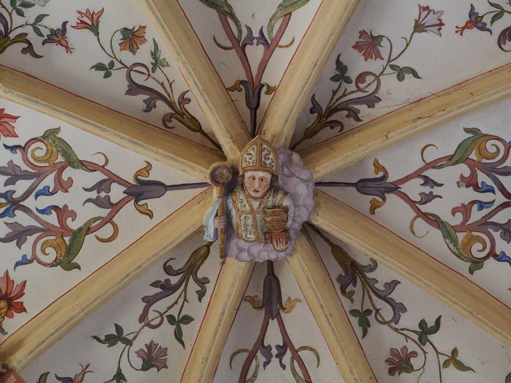 Particolare di una chiave di volta della chiesa di  Šentrupert