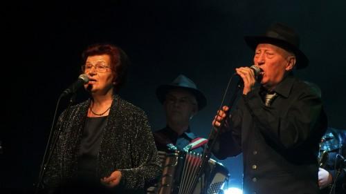Milan e Katarina Kreslin sul palco del Cankarjev Dom di Ljubljana