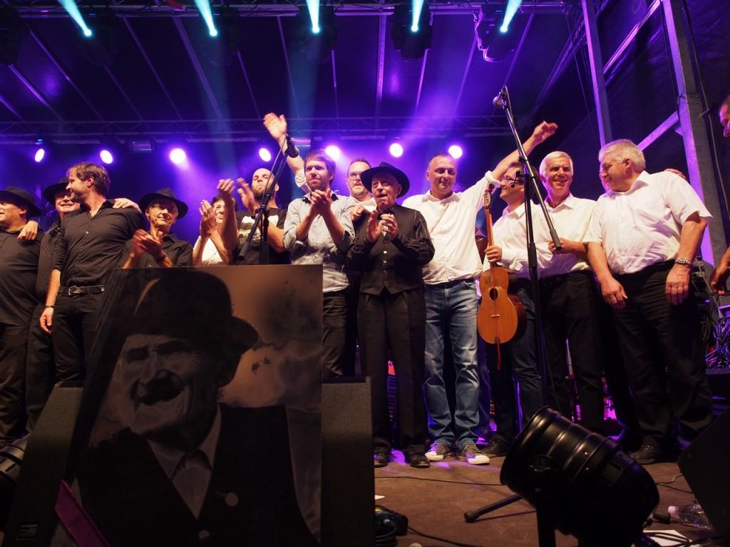 Milan Kreslin col figlio Vlado, I Mali Bogovi e la Beltinška banda a Beltinci