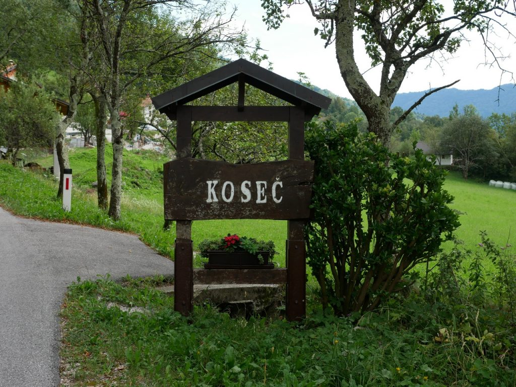 L'arrivo a Koseč