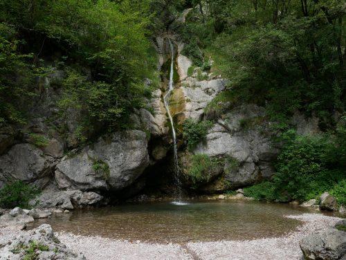 la cascata (inferiore) Krampež