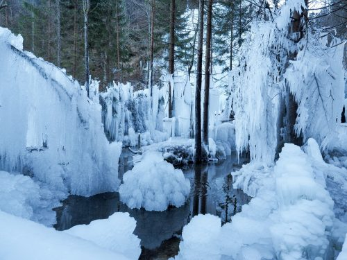Mojstrana - ghiaccio