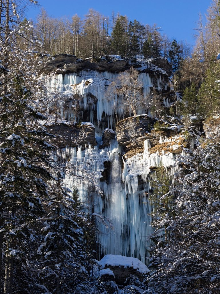 Le due cascate in inverno