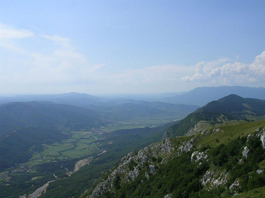 Vipava - La Vipavska Dolina vista dal Nanos