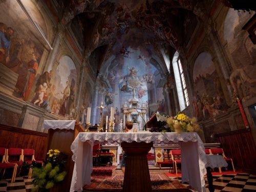 Vipava - Interno della chiesa di Santo Stefano