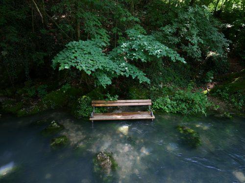 Vipava - Una panchina particolarmente fresca!