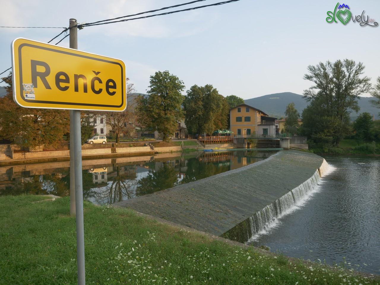 Il fiume Vipava a Renče