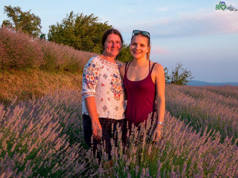Mamma e figlia. Mirjam ed Eva Marinič