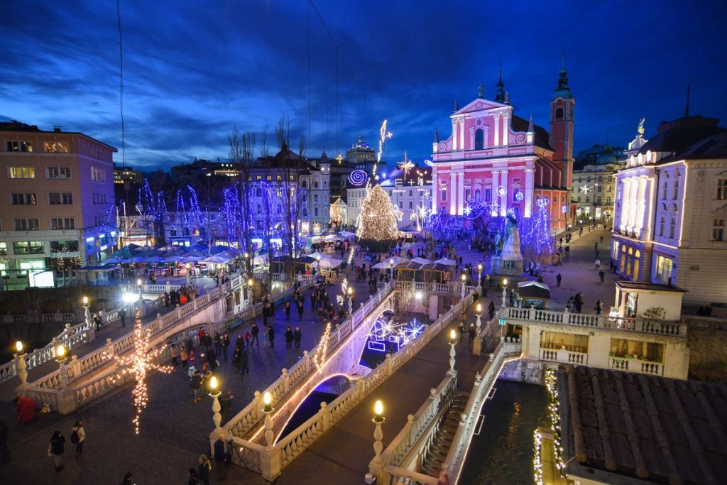 Ljubljana nel suo splendore natalizio