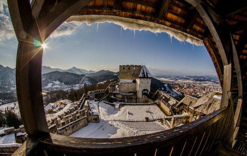 Il castello di Celje, ancora più magico nel periodo invernale