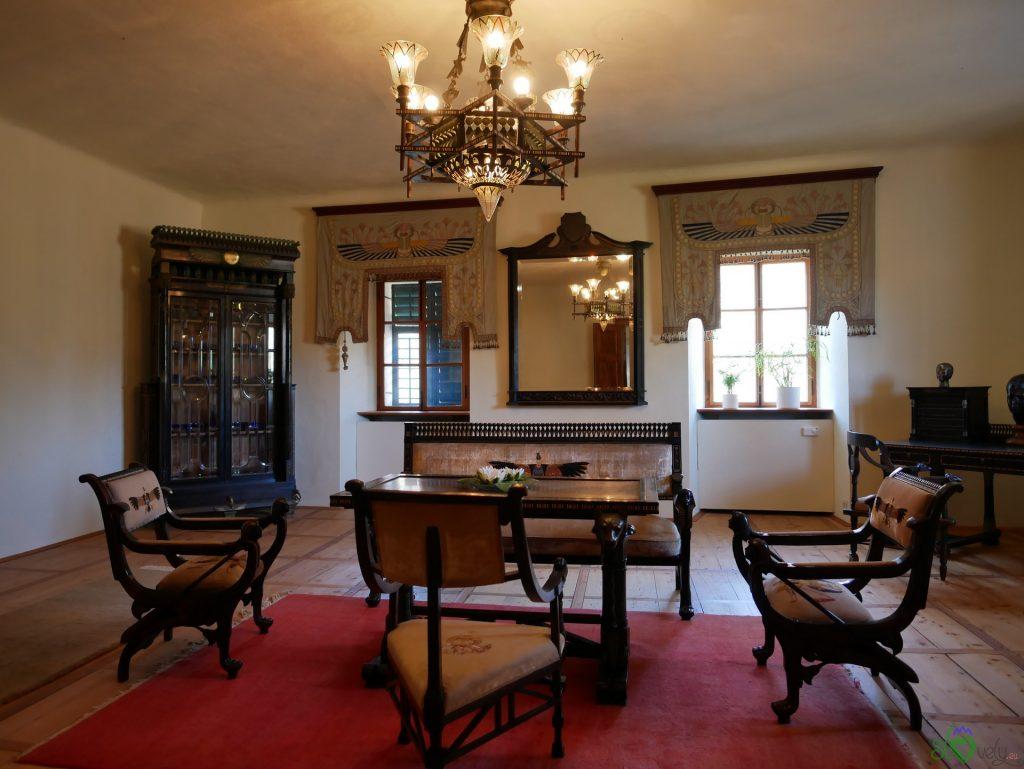 Una delle stanze all'interno del castello