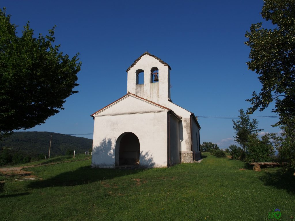La chiesetta di Sv.Andrej dall'esterno