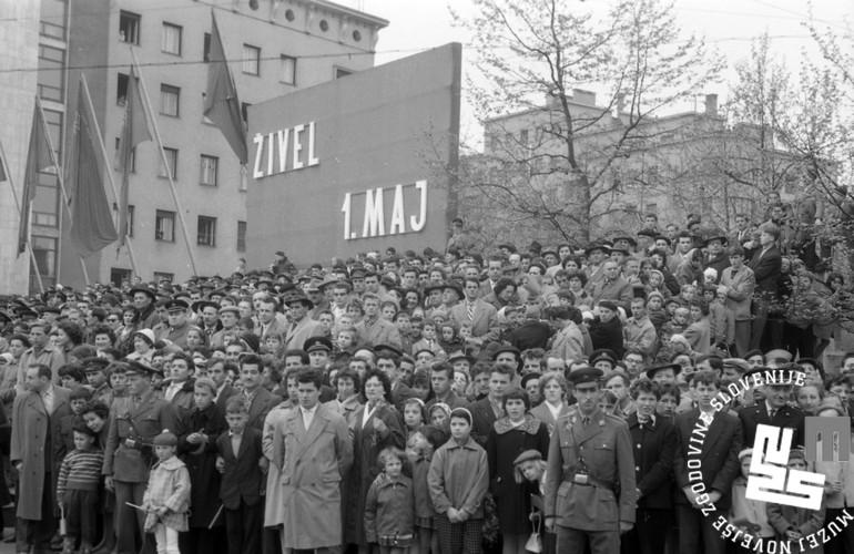 Manifestazione per il 1° Maggio ai tempi della Jugoslavia - Prvi maj