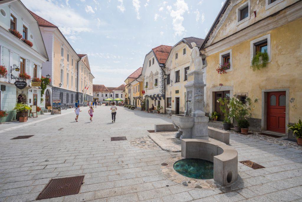 Le belle case di Linhartov trg - (c) Slovenia.info