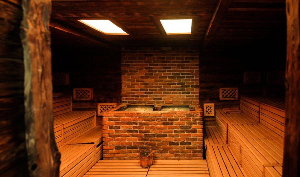 Sauna finlandese con aromi