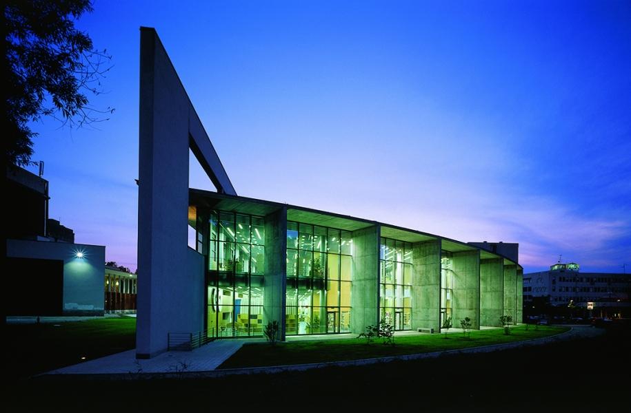 La splendida biblioteca di Nova Gorica intitolata a France Bevk