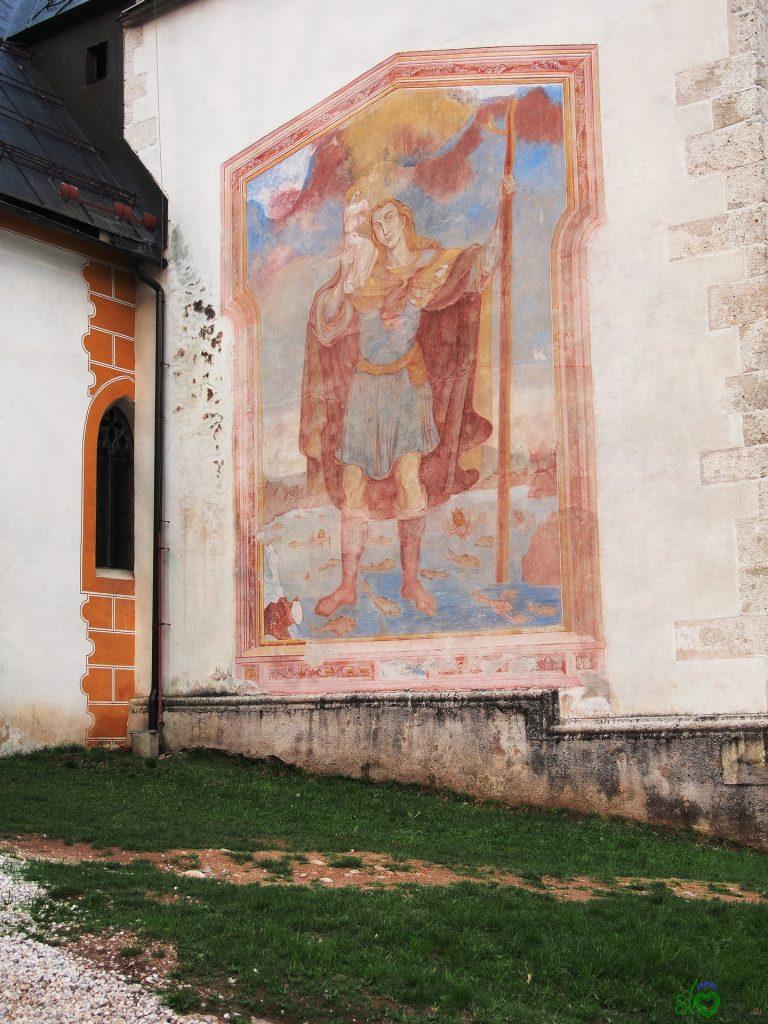 San Cristoforo dipinto sul campanile di Crngrob