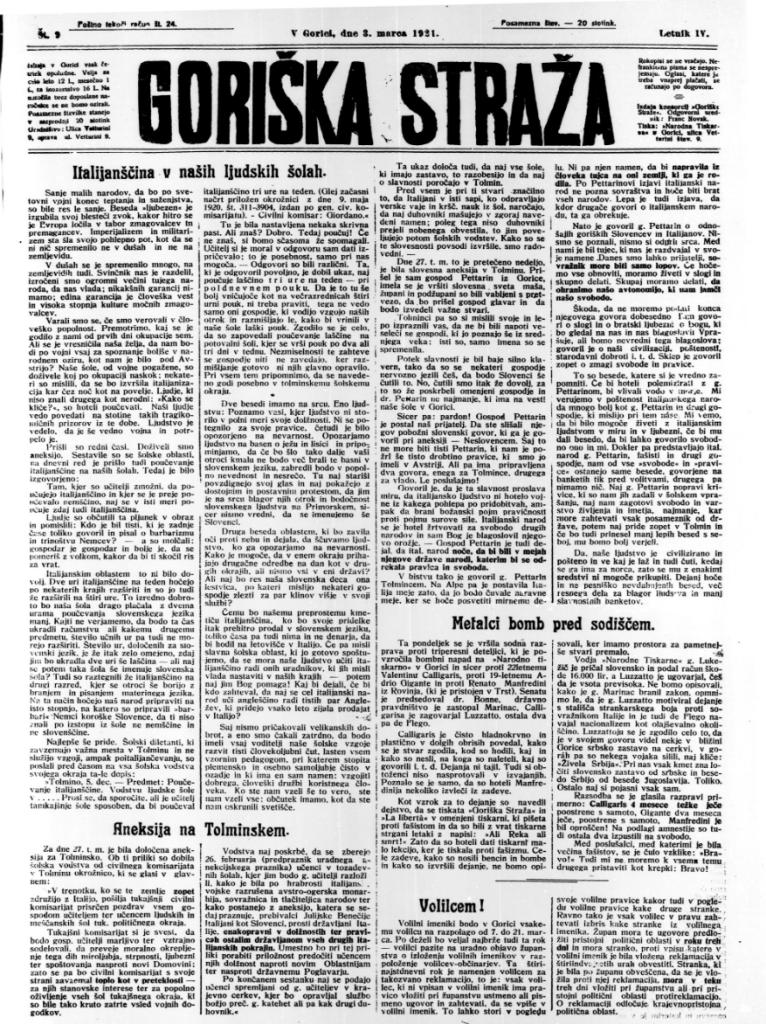 Il quotidiano Goriška Straža