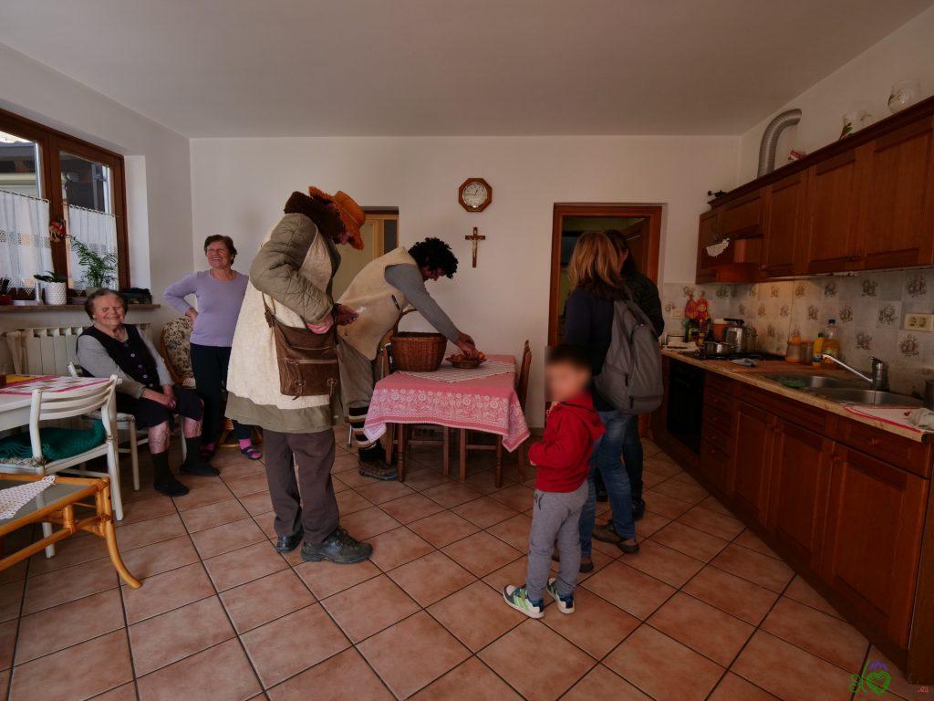 La tipica accoglienza nelle case