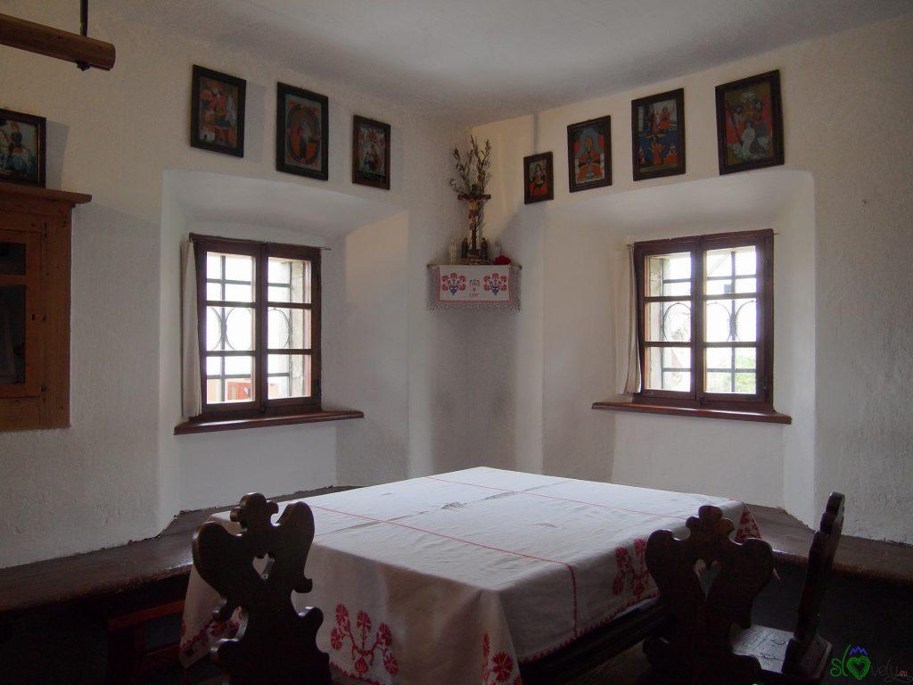 L'interno della casa di Prešeren
