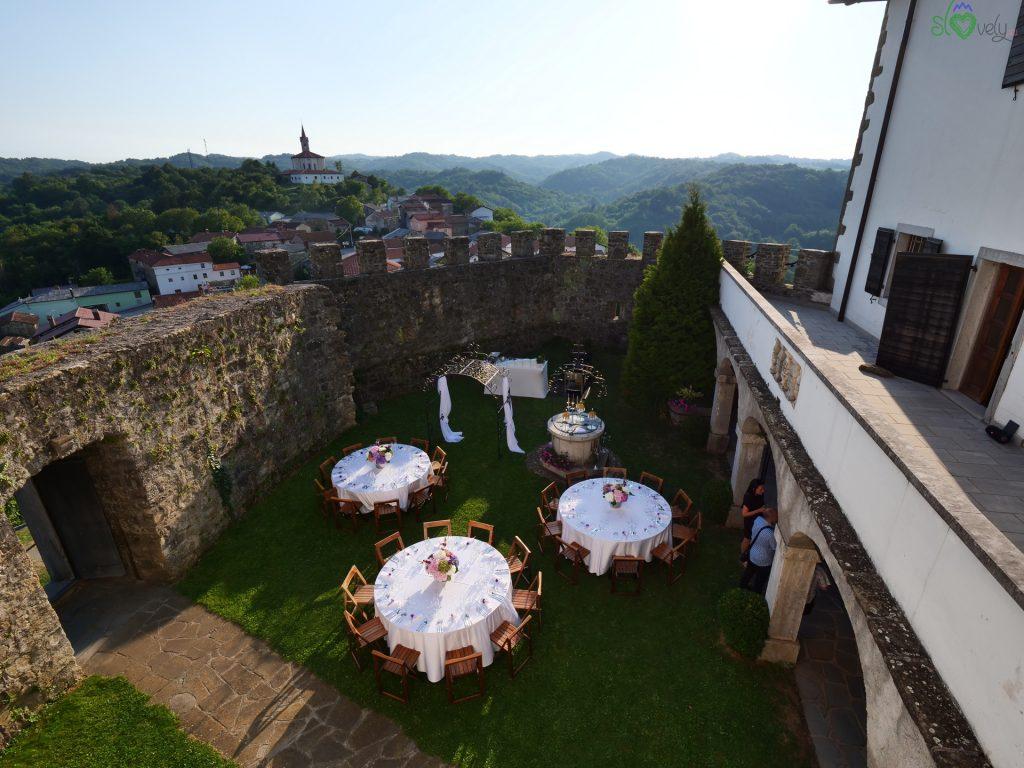 Il borgo di Prem visto dal castello