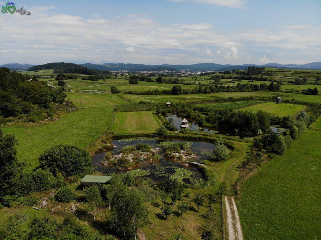 Veduta aerea dell'oasi naturalistica Po sledeh vodomca. - Cerovo