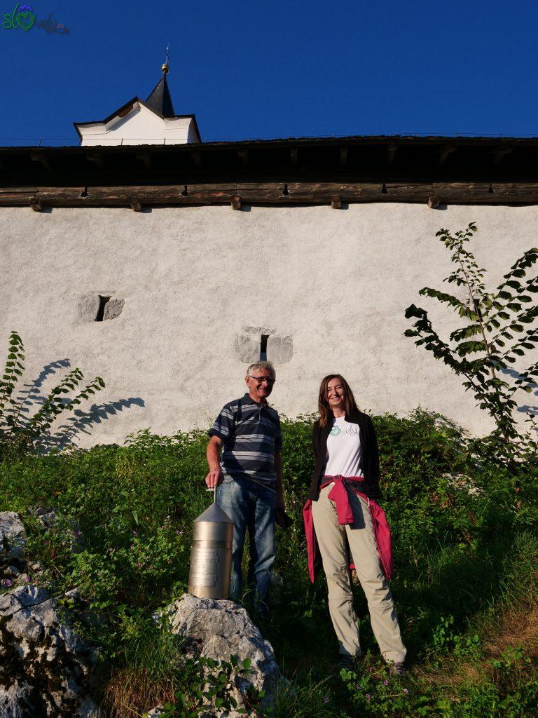 Sara con Janez Kozlevčar.
