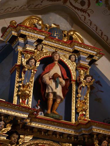 San Floriano sull'altare.