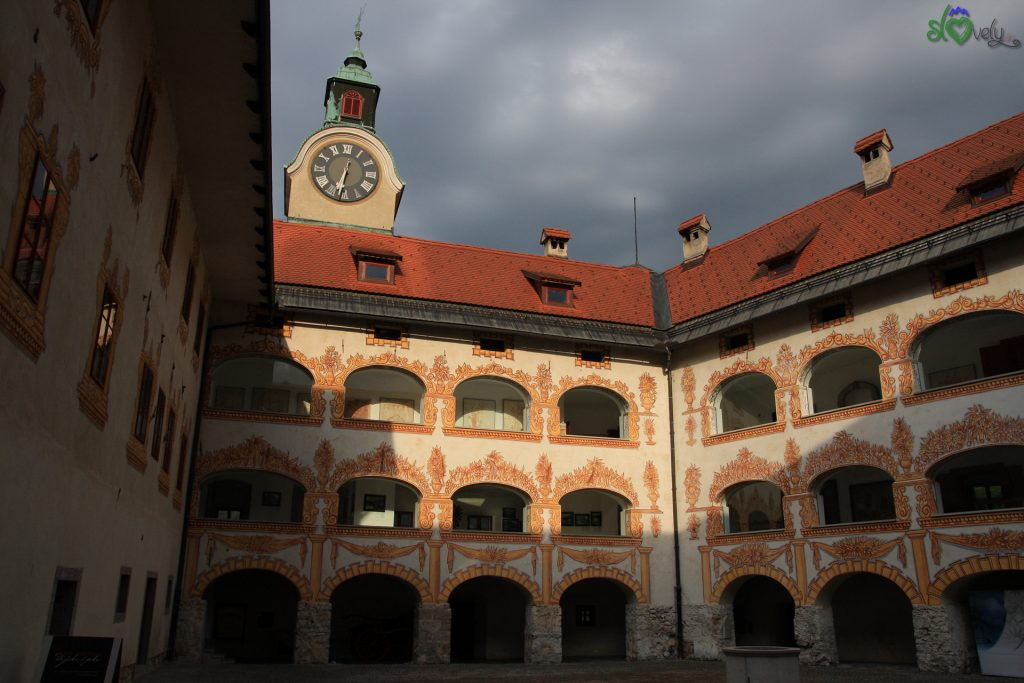 L'interno decorato del Grad Gewerkenegg,.