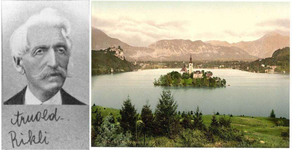 Arnold Rikli e un'antica cartolina di Bled.