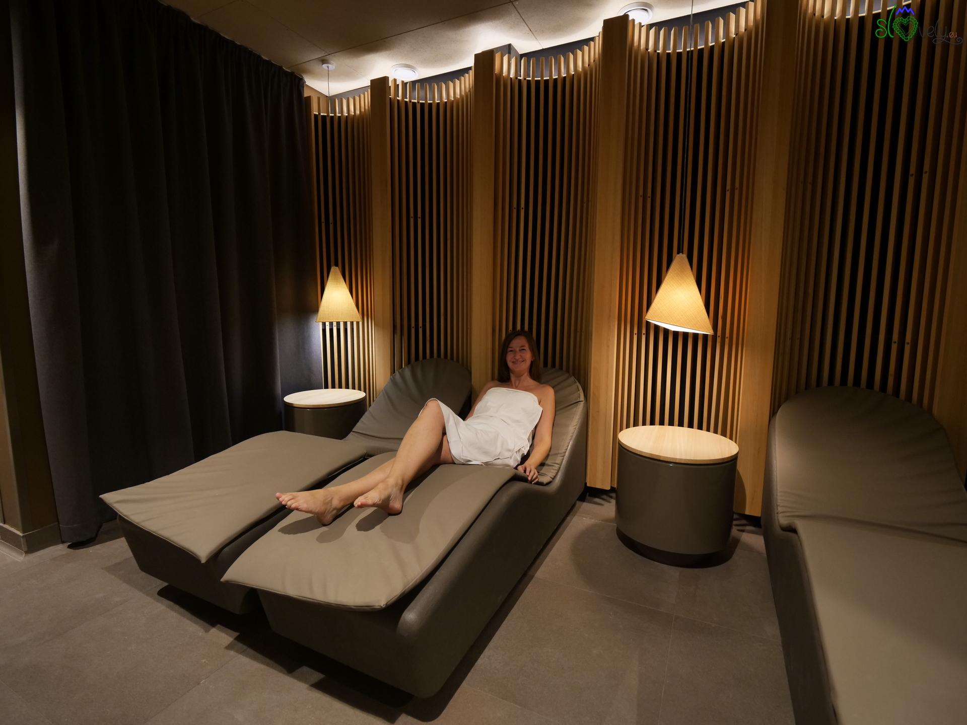 L'area relax delle saune Ajda.