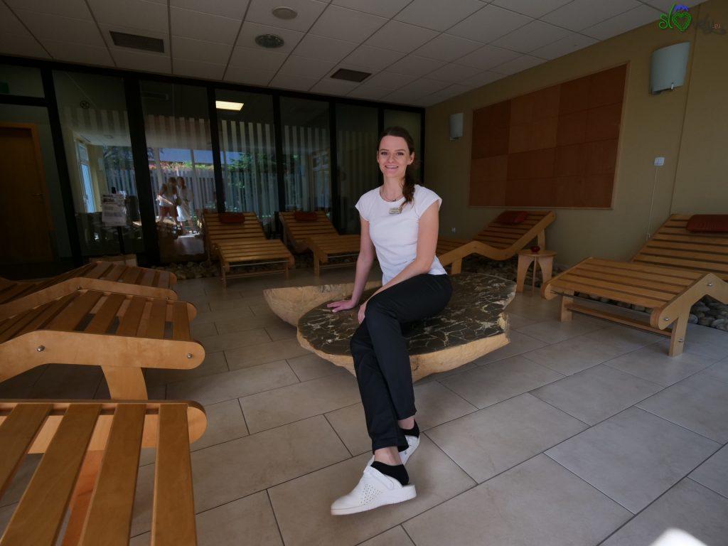 La bravissima massaggiatrice Barbara Krajinc del centro Thermalium.