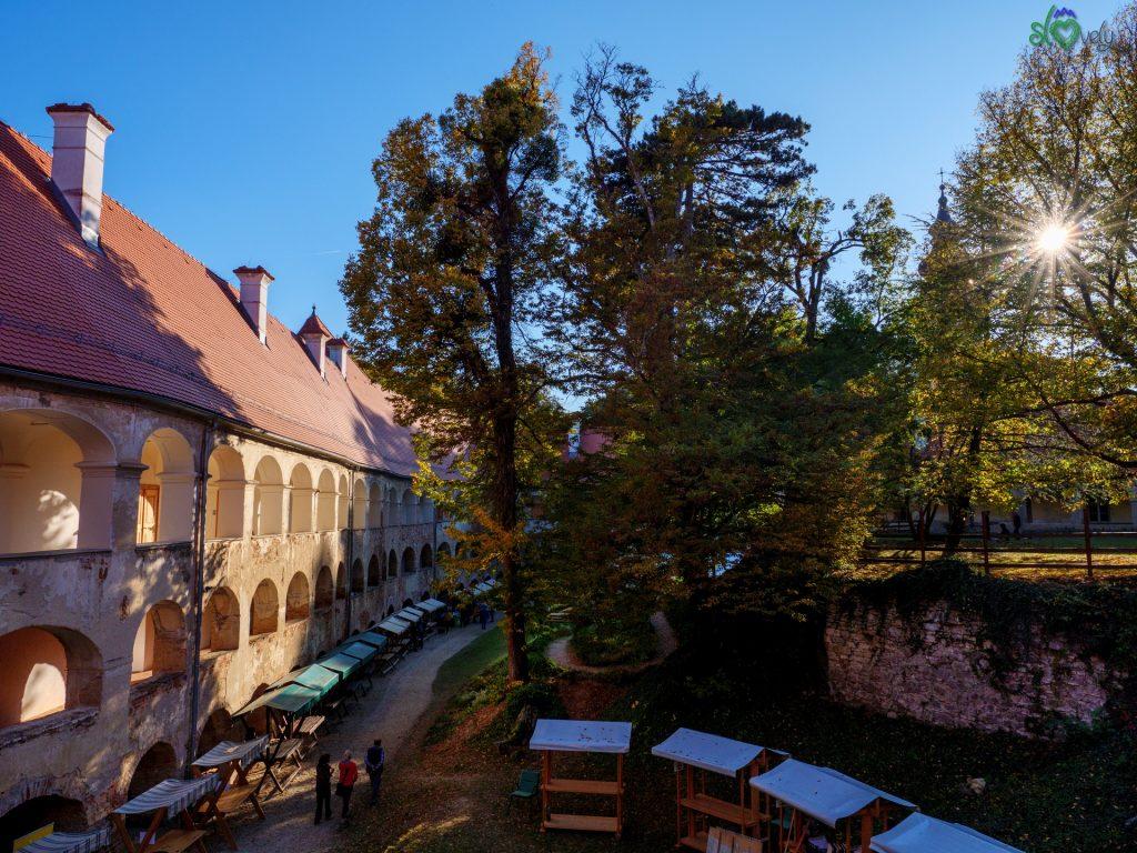 All'interno del castello di Goričko, il più grande della Slovenia!
