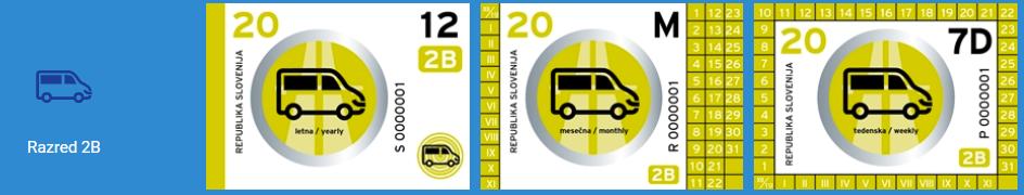 La vinjeta per i furgoni - Razred 2B