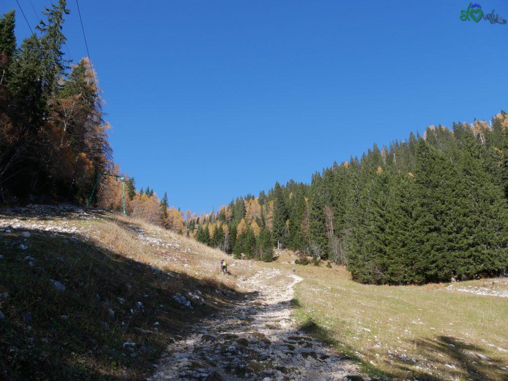 Si sale accanto allo skilift, la salita si fa più ripida, il panorama sempre splendido. - Viševnik