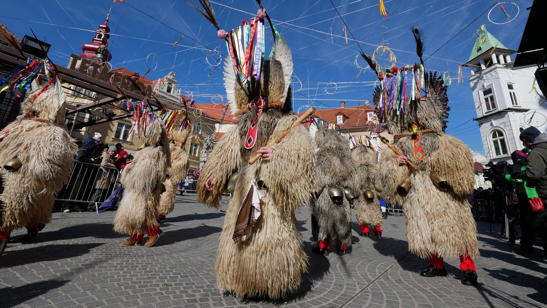 Il Kurentovanje, simbolo del carnevale in Slovenia