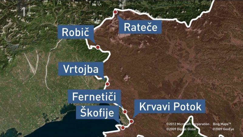 Mappa valichi Slovenia Coronavirus