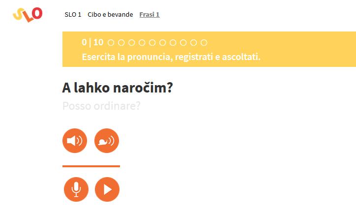 Esercita la pronuncia su slonline.si.