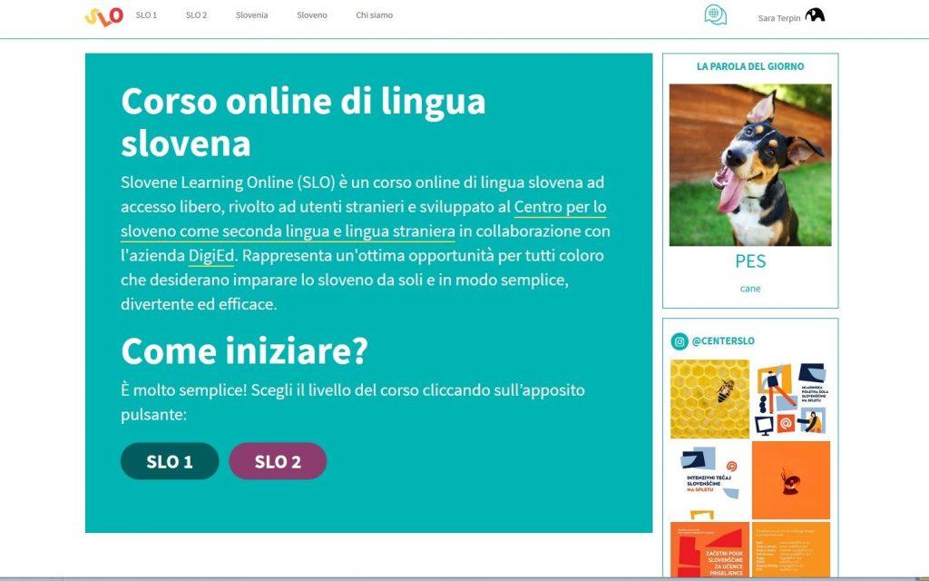La homepage di slonline.si.