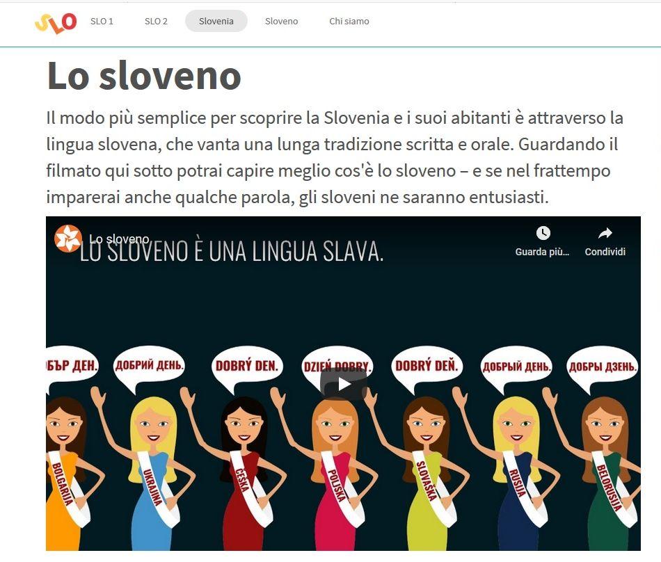 Presentazione sulla lingua slovena. Slonline.si
