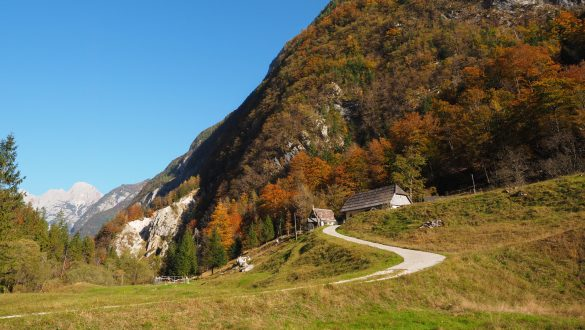 Valle dell'Isonzo in autunno